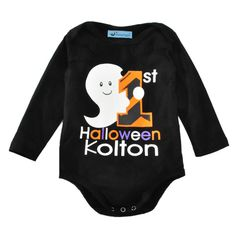215a523ff976 Halloween Baby Romper 2017 New Funny Ghost Long-sleeve Boy Girl Jumpsuit  Rompers Fashion Brand Cute Letter Nerborn Clothes