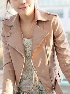 Long Sleeve PU Jacket