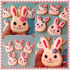 Easter Bunny sugar cookies..Cute faces :)