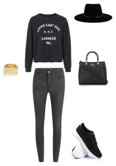 """#newyorkcity"" by littlewonder2504 ❤ liked on Polyvore featuring Topshop, Cheap Monday, adidas, Gucci, Uncommon Matters and Zimmermann"