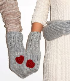 Hand-holding couple / family / lovers / friends mittens for two on Wanelo