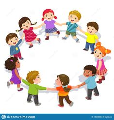 Illustration about Vector illustration of happy kids holding hands in a circle. Cute boys and girls having fun. Illustration of boys, daycare, diverse - 136845063 Children Holding Hands, Powerpoint Background Design, School Clipart, School Decorations, Child Day, Art Classroom, Happy Kids, Kids Education, Kids And Parenting