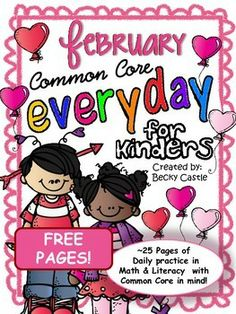 FEBRUARY FREEBIE!  Morning Work, Daily Work, Homework - Common Core Everyday SAMPLE PAGES for the month of February! Enjoy!