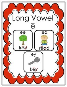 Great review and practice resource for long vowel e spellings.  Includes anchor chart, practice pages and a game!