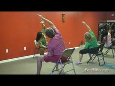 Part 1 of 5: Tuesday Chair Yoga @ Aradhikas.com - YouTube