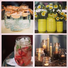 Mason Jars now available at Mirab's Home Store and there are lots of fun and creative ways to use them! Happy Shopping!