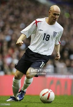 Andy Johnson of England runs with the ball during the Euro 2008 Qualifying match between England and Andorra at Old Trafford on September 2 2006 in. England International, Crystal Palace Fc, England National, National Football Teams, September 2, Andorra, Old Trafford, Lions, Euro