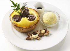 栗づくしのチーズタルトがパブロカフェに!「焼きたてミニチーズタルト マロン×マロン」