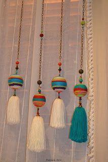 Un toque de personalidad y color para tus cortinas !!!!         medidas 1mt. de largo           consultas:  pascualadeco@gmail.com  almace...