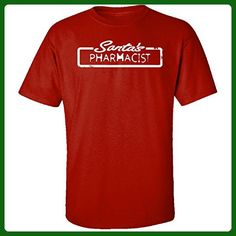 Santa's Pharmacist Christmas - Adult Shirt L Red - Holiday and seasonal shirts (*Amazon Partner-Link)