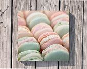 40% OFF SALE Food Photography French Macaron Parisian Pastels Spring Pale Pink Mint Green Valentine Photo Still Life 5x5 Inch Fine Art Photo  $9