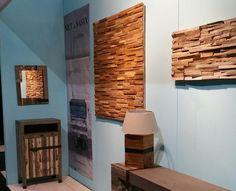 Bekijk de foto van Woodindustries met als titel Eigen Huis woonbeurs voorjaar 2016 - sfeervolle houtstrips verwerkt op een paneel - wandbekleding waar uw woning een mooie rustige sfeer van krijgt - goed voor de akoestiek en in elk interieur te gebruiken. en andere inspirerende plaatjes op Welke.nl.