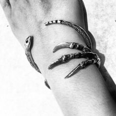 pamelalovenyc: talon cuff + serpent bangle