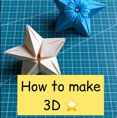 Cute Origami, Paper Crafts Origami, Origami Paper, Creative Crafts, Diy And Crafts, Arts And Crafts, Origami Flowers, Paper Flowers, Science Projects For Kids