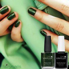 Pretty in deep green! Fairynails