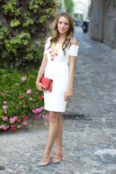9.12 a night in ravello (BCBG dress + ILY Couture necklace + nude Louboutins + Coach clutch)