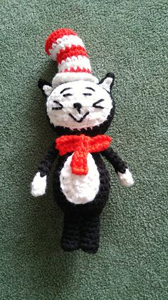 Ravelry: The Cat in the Hat Amigurumi pattern by Autumn Leaflet
