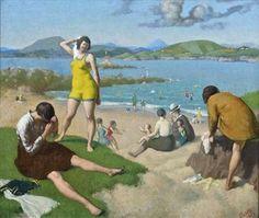 View The Bathers by John Luke on artnet. Browse upcoming and past auction lots by John Luke. John Luke, Irish Art, Antique Paint, Art Auction, Surrealism, Oil On Canvas, Modern Art, Ocean, Abstract