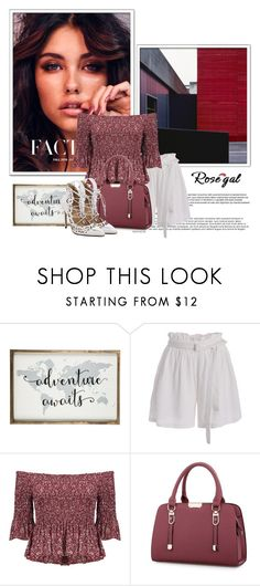 """""""Rosegal white shorts"""" by fashion-all-around ❤ liked on Polyvore"""