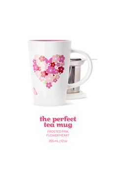 VALENTINE'S DAY 2015 - This romantic limited edition mug is the perfect way to say it with tea. Tea Mugs, Coffee Mugs, Bonne Bell, Davids Tea, Coffee Heart, Painted Plates, Tea Recipes, Hot Chocolate, Pink Flowers