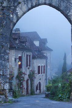 Misty Dawn In Saint Cirq Lapopie Photograph