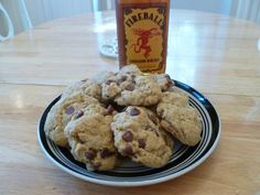 Fireball Whiskey Cookies Jost Jost Jost S I am going to have to make these for the weekend, I think. Just Desserts, Delicious Desserts, Yummy Food, Awesome Desserts, Yummy Treats, Sweet Treats, Fireball Recipes, Fireball Whiskey, Bourbon