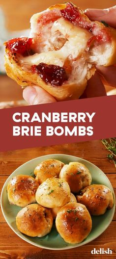 Cranberry Brie bombs keep your Hangry Thanksgiving guests at bay, # bomb # # . - Cranberry Brie bombs keep your Hangry Thanksgiving guests at bay, # bombs - Best Thanksgiving Recipes, Thanksgiving Cakes, Fall Recipes, Easy Thanksgiving Dinner, Holiday Recipes, Traditional Thanksgiving Food, Thanksgiving Baking Ideas, Appetizers For Thanksgiving, Easy Thanksgiving Side Dishes