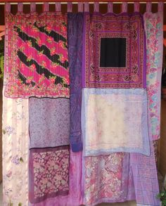 Your place to buy and sell all things handmade Bohemian Girls, Bohemian House, Bohemian Gypsy, Bohemian Decor, Bohemian Living, Bohemian Style, Pink Sheer Curtains, Bohemian Curtains, Diy Curtains