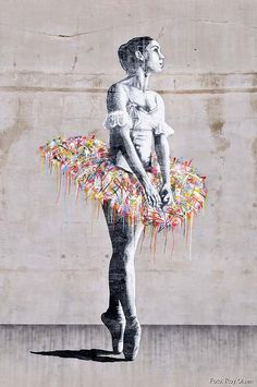 Ballerina - Stencil art by Martin Whatson.