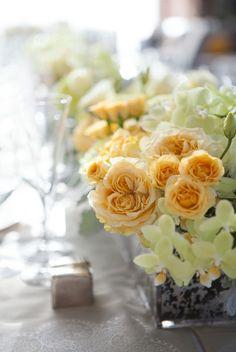 Beautiful center pieces in our Aria Ballroom #WeddingWednesday