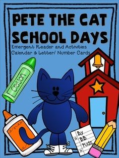 Unit for the first few weeks of school included is a pete the cat