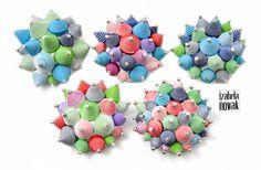 Izabela Nowak / Contemporary Jewelry / Polymer Clay / Fimo / www.facebook.com/izabelanowakdesign