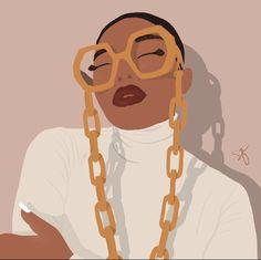 Black Girl Cartoon, Black Girl Art, Black Women Art, Black Girl Magic, Art Girl, Black Girls, Cartoon Drawings, Cool Drawings, Phone Wallpaper Images