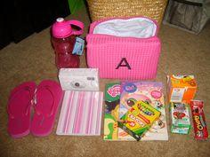 The gift & emergency kit I made for my flower girl, Avery.