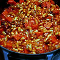 Vegetarian Cassoulet by Smitten Kitchen - Great for winter!  I will try it and use tomatoes I canned this past summer.