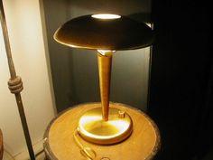 MCM Vintage Brass Lamp HOLTKOTTER Mushroom Collection