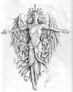 Angel Mother of Earth. High chest front, face lining up on the centre of my neck… Angel Mother of Earth. High chest front, face lining up on the centre of my neck. My left side covering heart innocent angel, right side naughty devil. Slightly bigger bust. Indian Girl Tattoos, Girl Neck Tattoos, Body Art Tattoos, Tattoos For Guys, Sleeve Tattoos, Cool Tattoos, Engel Krieger Tattoo, Design Tattoo, Tattoo Designs