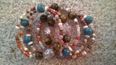 Sedona Bracelet  Beaded Memory Wire Bracelet in by luckyblacksheep, $13.00