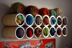 Yarn storage.