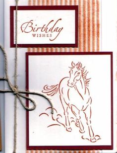 Brushstroke Horses card                                                                                                                                                                                 More