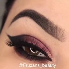 oldie but goldie 😉 # eye # make-up # schoonheid Makeup Eye Looks, Eye Makeup Steps, Beautiful Eye Makeup, Simple Eye Makeup, Smokey Eye Makeup, Eyebrow Makeup, Eyeshadow Makeup, Beauty Makeup, Hair Makeup