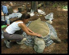DIY rock turtle:
