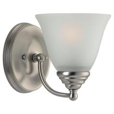 Sea Gull Lighting Albany 1-Light Brushed Nickel Wall Sconce-44575-962 - The Home Depot
