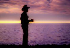 Sunrise Coffee, Isla Cedros, Baja California, Mexico Enrique enjoys a sunrise coffee overlooking the still Pacific Ocean camping on Cedros Island. Captured February 1987 on Kodachrome 25, Nikon F3, Nikkor 80-200mm zoom ©Marty Hiester #bajacalifornia #mexico #islacedros