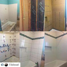 Bathroom reno by Samuel @73dissel. Tile perfectly installed with T-Lock tile leveling system. #tile #tiles #tilesetter #tiled #tileaddiction #tiletop #tilesetters #tileguy #tiling #tilingwork #diy #diyproject #worksmarternotharder #worksmart #worksmarter #smartwork #bathroomreno #ceramictiles #diyproject #diyprojects #construction #hgtv #tilelove #homeshows by perfectlevelmaster