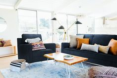 Inside Total Bellas Star Brie Bella's 'Boho and Cozy' Living Room: 'We Nailed It! Living Room Photos, Cozy Living Rooms, Home Living Room, Living Room Furniture, Living Room Decor, Condo Living, Living Spaces, Classic Furniture, Modern Furniture