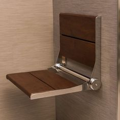 Shower seats and shower benches for bath safety and accessibility. Fold up shower seats and bath benches for bathroom safety and wheelchair accessible home modifications. Shower Accessories, Wall Mount, Shower Seat, Small Bathroom, Bathrooms Remodel, Shower Installation, Shower Bench, Shower Seats, Wall Seating