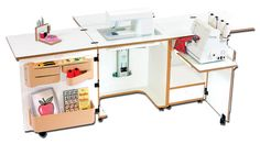 Sylvia Design Sewing Furniture - Model 1000 Sewing / Serger Cabinet - Sewing Machine Cabinets