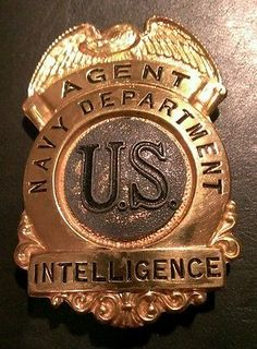 law enforcement badges for collectors   Obsolete Pre WWII US Navy Dept Intelligence Agent Badge Very Rare
