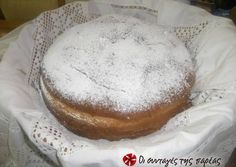 I have never seen this church celebratory bread with powdered sugar. This is an interesting recipe. Thin Mints, Powdered Sugar, Chocolate Ganache, Greek Recipes, Sweet Bread, Camembert Cheese, Cravings, Vegetarian Recipes, Deserts